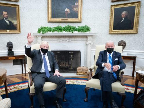 Boris Johnson meets Joe Biden in the Oval Office (Stefan Rousseau/PA)