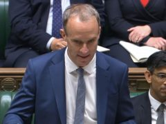 Deputy Prime Minister Dominic Raab during Prime Minister's Questions (House of Commons/PA)