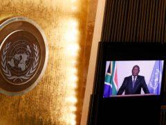 South Africa's President Matamela Cyril Ramaphosa (John Angelillo/Pool Photo via AP)