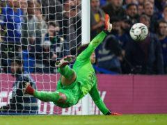 Kepa Arrizabalaga was Chelsea's penalty shoot-hero against Aston Villa (Mike Egerton/PA)