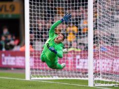 Tottenham goalkeeper Pierluigi Gollini helped them beat Wolves on penalties (David Davies/PA)
