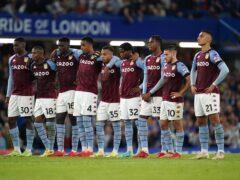 Aston Villa go to Manchester United on Saturday (Mike Egerton/PA)