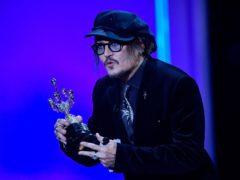 Johnny Depp receives the Donostia Award for his contribution to cinema (Alvaro Barrientos/AP)
