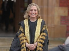 The former US secretary of state Hillary Clinton is installed as the chancellor of Queen's University (Brian Lawless/PA)