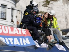 The Government is seeking a new injunction after climate protesters blocked the Port of Dover, Transport Secretary Grant Shapps said (Gareth Fuller/PA)