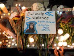 A tribute to Sabina Nessa (Jonathan Brady/PA)