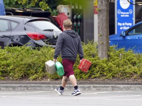 The fuel crisis has led to soaring demand for jerry cans and forms of transport that do not involve joining lengthy queues, new figures show (Steve Parsons/PA)