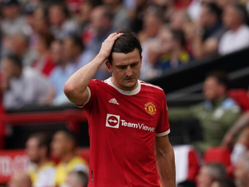 Harry Maguire went off injured at the weekend (Martin Rickett/PA)
