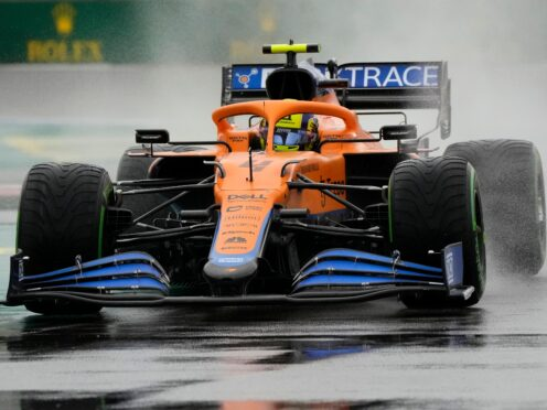 Lando Norris claimed pole position for the Russian F1 GP (Sergei Grits/AP)