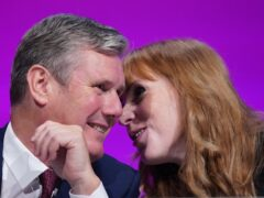 Sir Keir Starmer and Angela Rayner at the Labour Party conference in Brighton (Stefan Rousseau/PA)