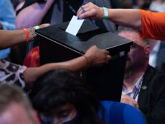 Ballot papers are collected at the Labour Party conference in Brighton (Stefan Rousseau/PA)