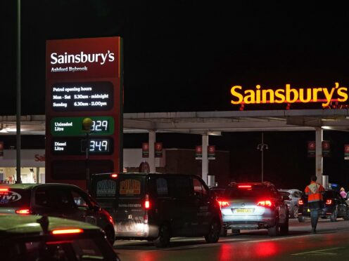 The HGV driver visa scheme is aimed at relieving the current supply issues faced by the retail sector and petrol stations (Gareth Fuller/PA)