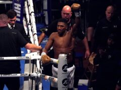 Anthony Joshua leaves the ring dejected (Nick Potts/PA)
