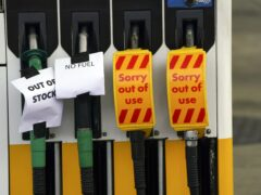 A Shell petrol station in Bracknell, Berkshire without fuel pictured on September 26, 2021 (PA)