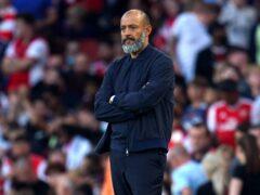 Nuno Espirito Santo's side lost to Arsenal on Sunday (Nick Potts/PA)