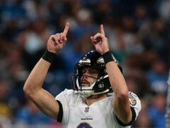 Justin Tucker made NFL history on Sunday (Tony Ding/AP)