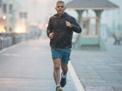 Mayor of London Sadiq Khan runs along the seafront in Brighton where the Labour Party is holding its conference (Stefan Rousseau/PA)