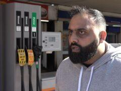 Yasser Ahmed at West Drayton petrol station (PA Video)