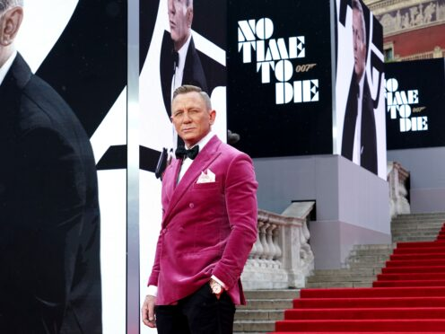 Daniel Craig attending the World Premiere of No Time To Die (Ian West/PA)