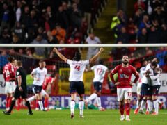 Kieran Lee struck twice in the second half to win the match for Bolton (John Walton/PA)