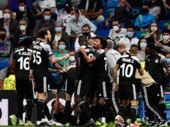 Sheriff Tiraspol celebrated a shock Champions League victory over Real Madrid at the Bernabeu (Jose Breton/AP)