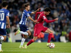 Liverpool midfielder Curtis Jones was the star of the show in a 5-1 win over Porto (Luis Vieira/AP)