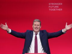 Labour leader Sir Keir Starmer delivers his keynote speech at the party's conference in Brighton (PA)