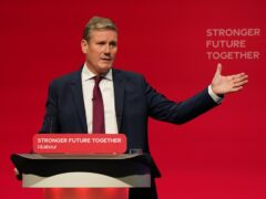 Sir Keir Starmer addressing the Labour Party conference in Brighton (Andrew Matthews/PA)