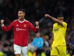 Cristiano Ronaldo celebrated his record 178th Champions League appearance by scoring a late winner (Martin Rickett/PA)