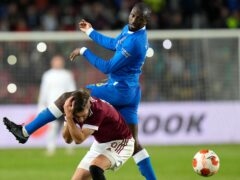 Glen Kamara was sent off in Prague (Petr David Josek/AP)