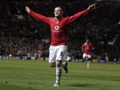 Manchester United's Wayne Rooney celebrates his brilliant hat-trick (Phil Noble/PA)
