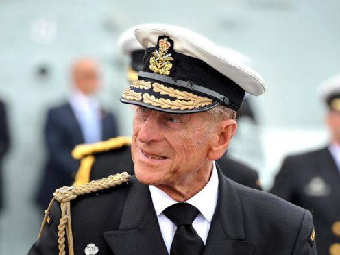 The Duke of Edinburgh in naval uniform (John Stillwell/PA)