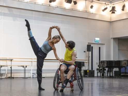 Isabel Lubach from The Royal Ballet with Joe Powell-Main from Ballet Cymru (Dancers Diary ROH)