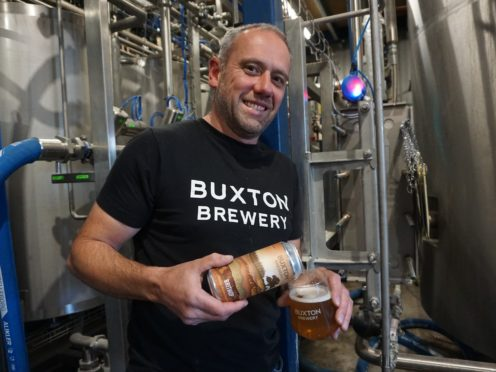 """Geoff Quinn, the MD of Buxton Brewery, which has teamed up with a Worcestershire-based hop grower to produce an """"all-British"""" hop IPA. (Credit: Tesco/PA)"""