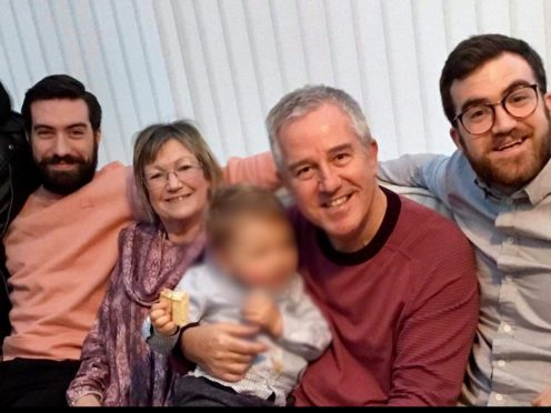 Ross McCarthy (far right) with his family including father Mike (second right) (Family handout/PA)