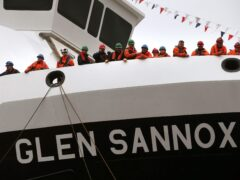 Kate Forbes said she was determined work would be completed on the Glen Sannox ferry and the other vessel being built for CalMac at Ferguson Marine (Andrew MIlligan/PA)