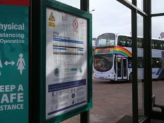 Bus operators are to get up to £42 million of government cash to help them cope with the continuing impact of Covid (Andrew Milligan/PA)