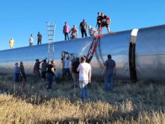At least three people were dead when an Amtrak train operating between Seattle and Chicago derailed in north-central Montana (Kimberly Fossen/AP)