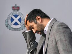 Humza Yousaf said the NHS in Scotland will remain on 'emergency footing' until at least the end of March 2022 (Andrew Milligan/PA)