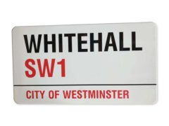 The Whitehall SW1 street sign is estimated to sell for between £400 and £600 (Catherine Southon Auctioneers & Valuers/PA)