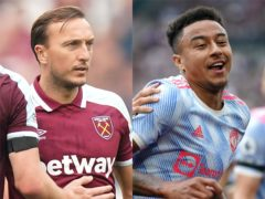 There were mixed emotions for Mark Noble and Jesse Lingard at the London Stadium (Mike Egerton/PA)