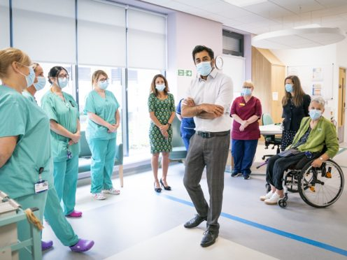 Health Secretary Humza Yousaf needs to 'get a grip' of the ongoing crisis in A&E departments, opposition politicians say (Jane Barlow/PA)