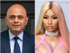 Sajid Javid and Nicki Minaj (PA)