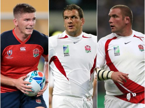 Owen Farrell, Martin Johnson and Phil Vickery have all captained England (Adam Davy/David Davies/PA).