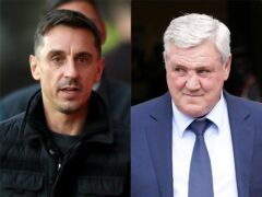 Steve Bruce has been treated unfairly by Newcastle's new owners, says Gary Neville (PA)