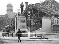 The site of the Enniskillen bomb blast in 1987 (PA)