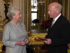 The Queen invests Bernard Haitink with the Insignia of the Companion of Honour at Buckingham Palace in 2002. Haitink has died, aged 92 (Matthew Fearn/PA)