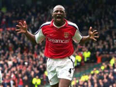 Former Arsenal hero Patrick Vieira had publicly backed Daniel Ek's bid to buy his former club (PA)