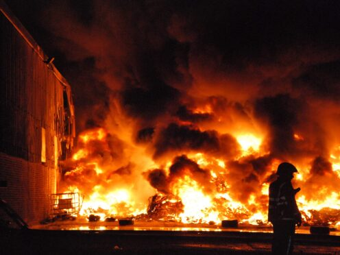 The Scottish Fire and Rescue Service has issued a plea for people not to attack crews on November 5 (SFRS/PA)