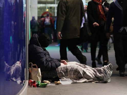 Homelessness figures are down but the number of people in temporary accommodation has increased (Yui Mok/PA)